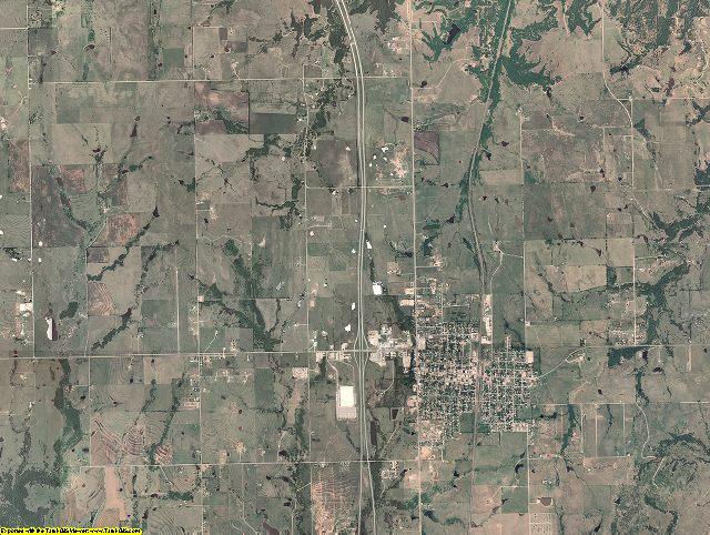 Love County, Oklahoma aerial photography