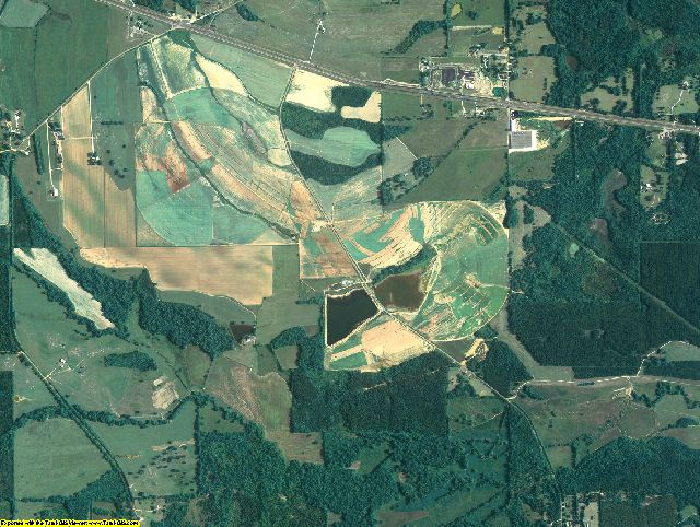 Lowndes County, Alabama aerial photography