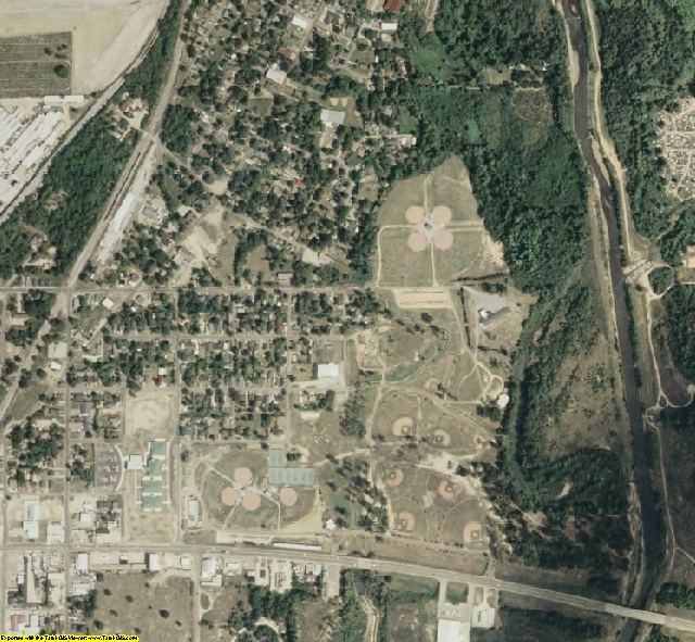 Lowndes County, MS aerial photography detail