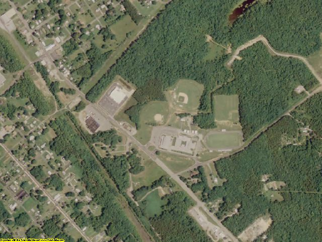 Lunenburg County, VA aerial photography detail