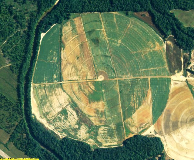 Macon County, AL aerial photography detail