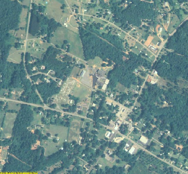 Madison County, GA aerial photography detail
