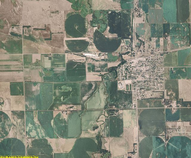 Madison County, Nebraska aerial photography