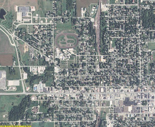 Mahaska County, Iowa aerial photography