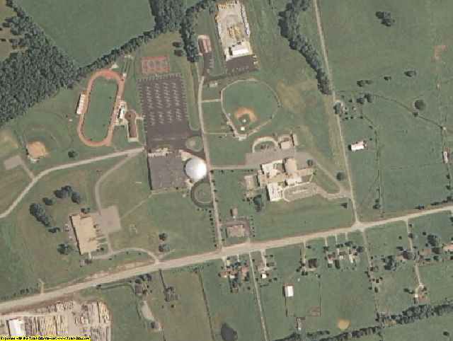 Marion County, KY aerial photography detail