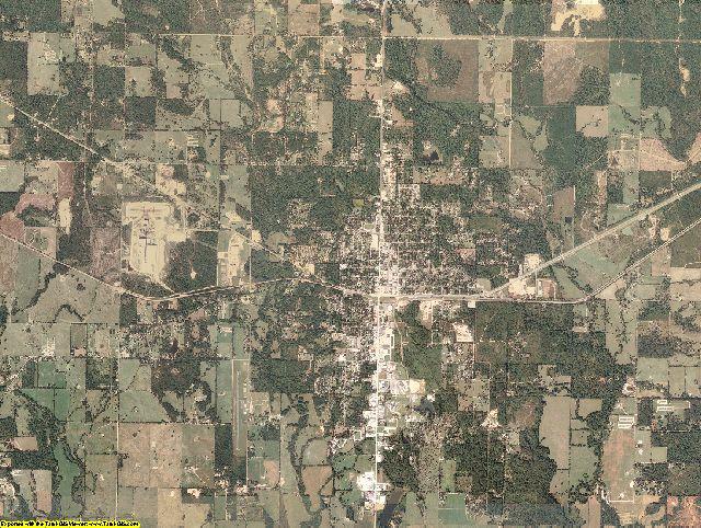 McCurtain County, Oklahoma aerial photography