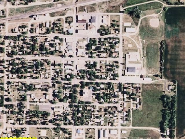 McHenry County, ND aerial photography detail