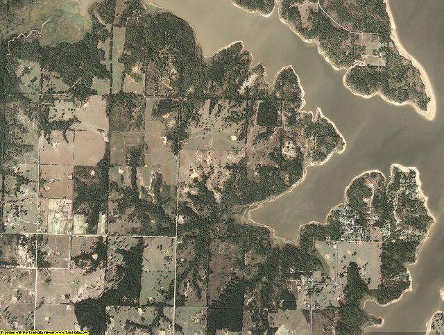 McIntosh County, Oklahoma aerial photography