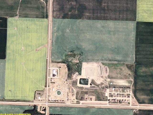 McLean County, ND aerial photography detail