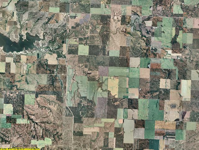 McLean County, North Dakota aerial photography