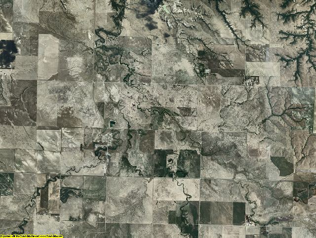 Mellette County, South Dakota aerial photography