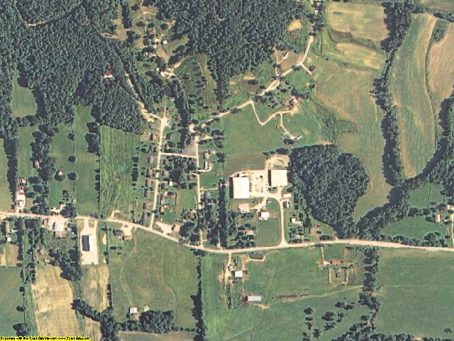Menifee County, KY aerial photography detail