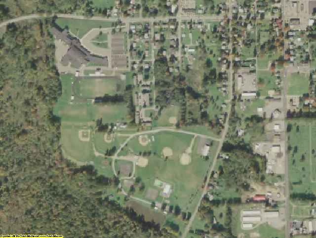 Mercer County, PA aerial photography detail