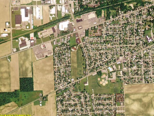 Miami County, OH aerial photography detail