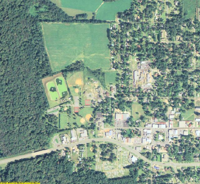 Miller County, GA aerial photography detail