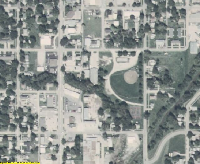 Mills County, IA aerial photography detail