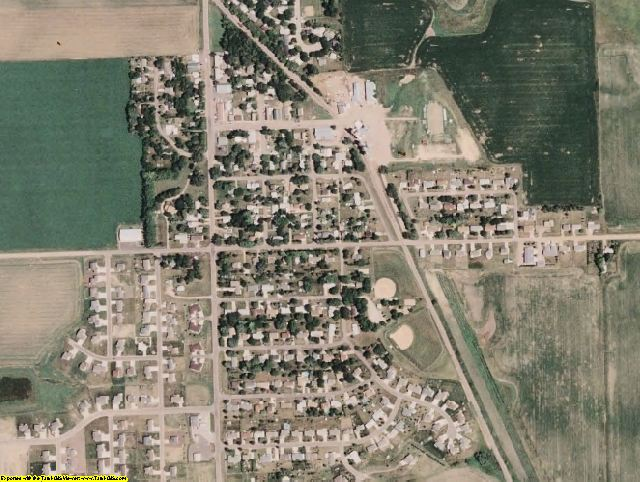 Minnehaha County, SD aerial photography detail