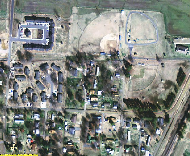 Monroe County, AR aerial photography detail
