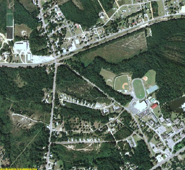Montgomery County, GA aerial photography detail