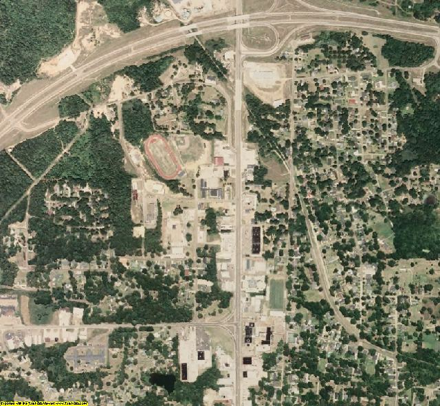 Montgomery County, MS aerial photography detail