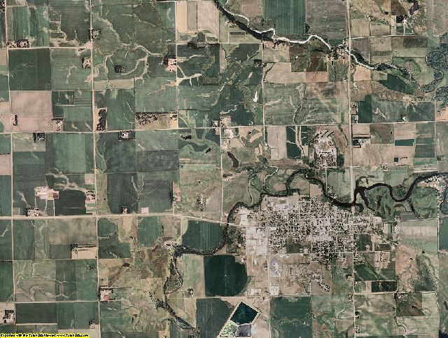 Moody County, South Dakota aerial photography