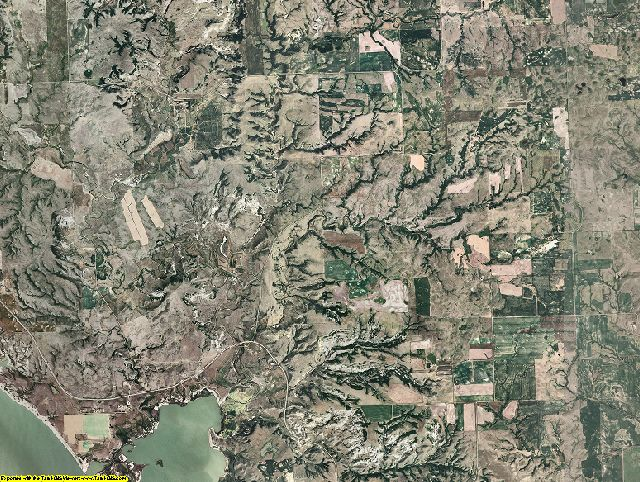 Mountrail County, North Dakota aerial photography