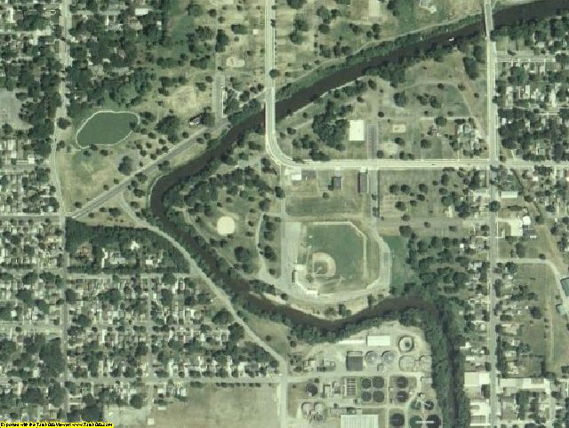 Mower County, MN aerial photography detail