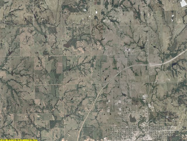 Murray County, Oklahoma aerial photography