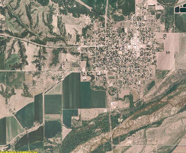 Nance County, Nebraska aerial photography