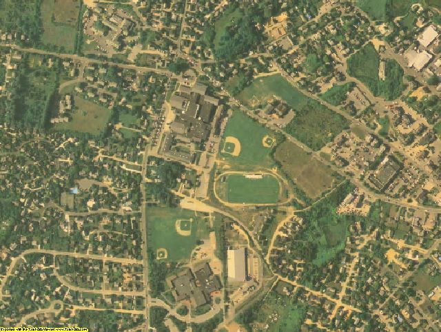 Nantucket County, MA aerial photography detail