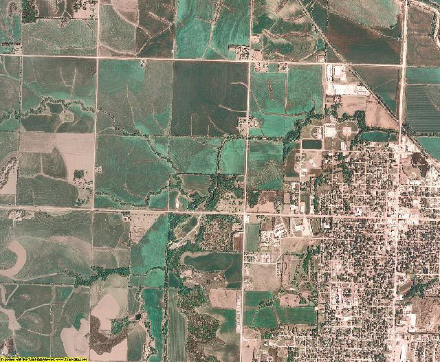 Nemaha County, Nebraska aerial photography