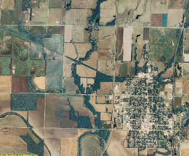 Neosho County, Kansas aerial photography