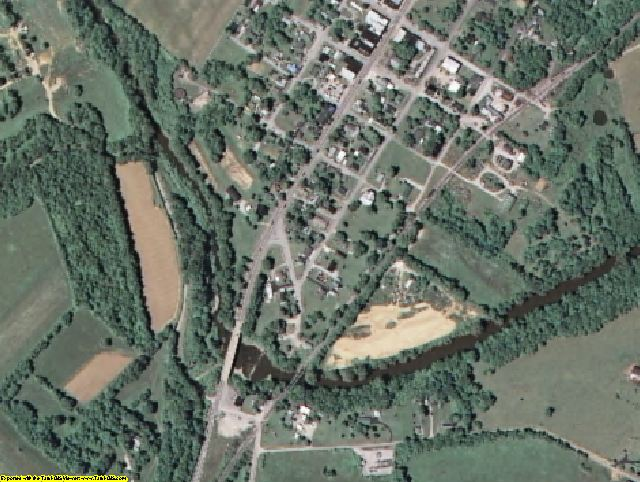 Nicholas County, KY aerial photography detail