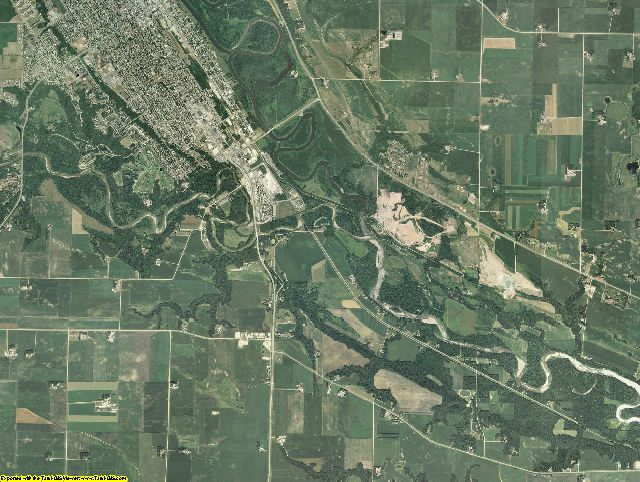 Nicollet County, Minnesota aerial photography