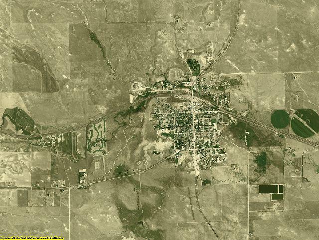 Niobrara County, Wyoming aerial photography