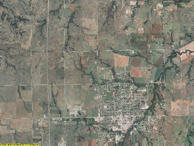 Noble County, Oklahoma aerial photography