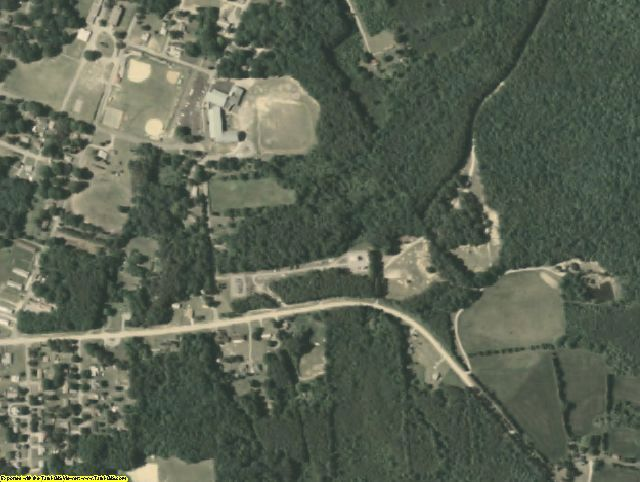 Nottoway County, VA aerial photography detail
