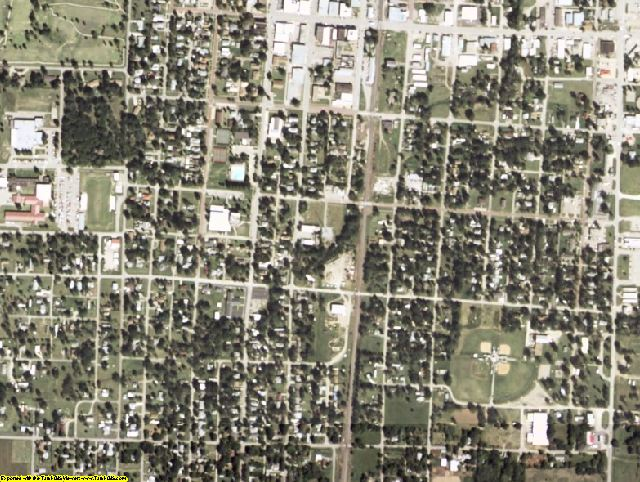 Nowata County, OK aerial photography detail