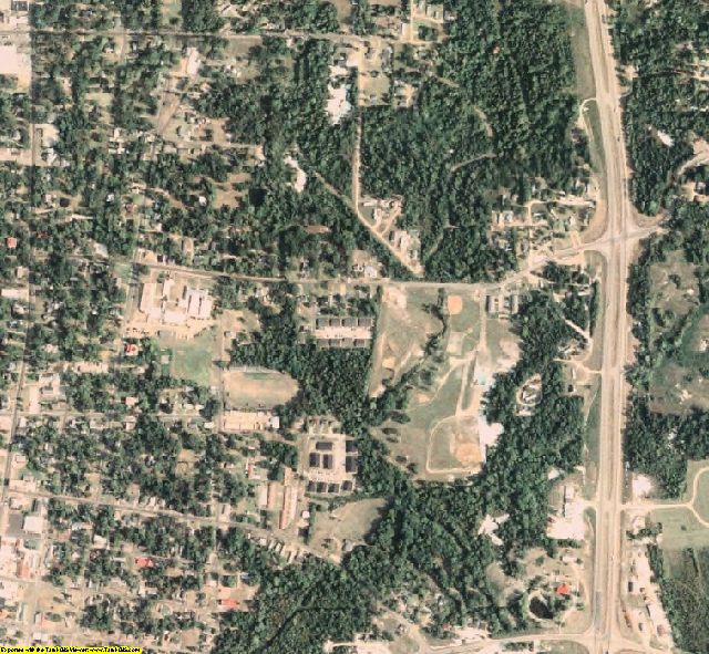 Noxubee County, MS aerial photography detail