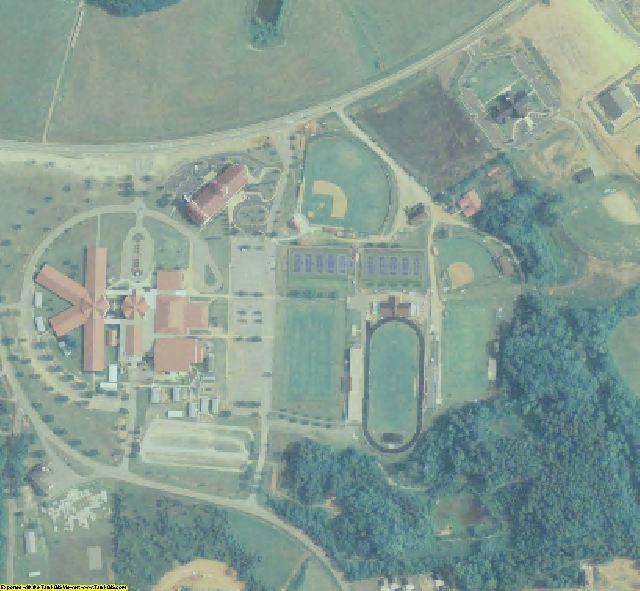 Oconee County, GA aerial photography detail