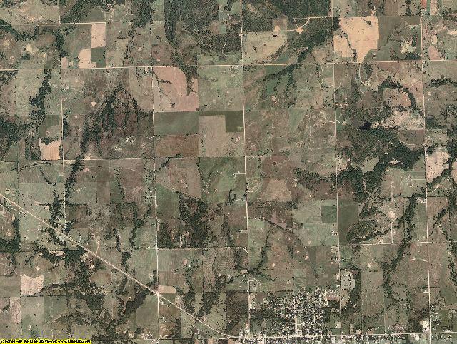 Okfuskee County, Oklahoma aerial photography