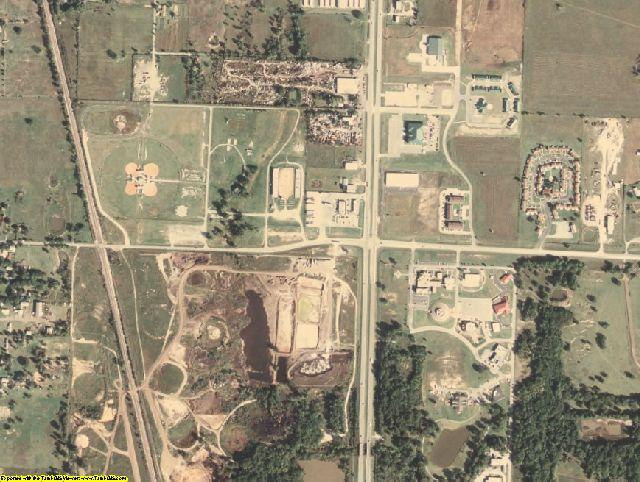Okmulgee County, OK aerial photography detail