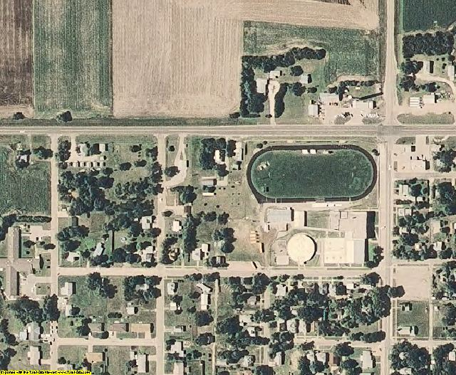Osborne County, KS aerial photography detail