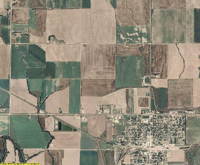 Osborne County, Kansas aerial photography