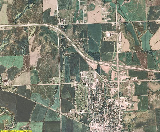 Otoe County, Nebraska aerial photography