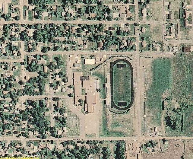 Ottawa County, KS aerial photography detail