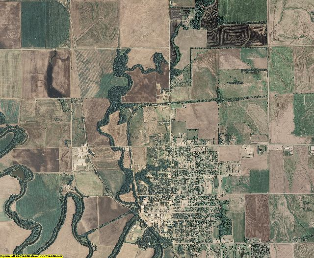 Ottawa County, Kansas aerial photography