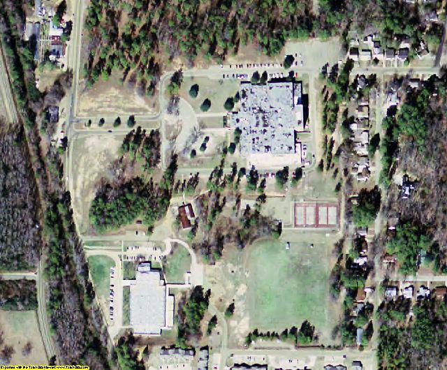 Ouachita County, AR aerial photography detail