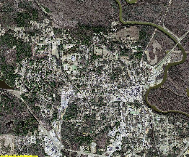 Ouachita County, Arkansas aerial photography