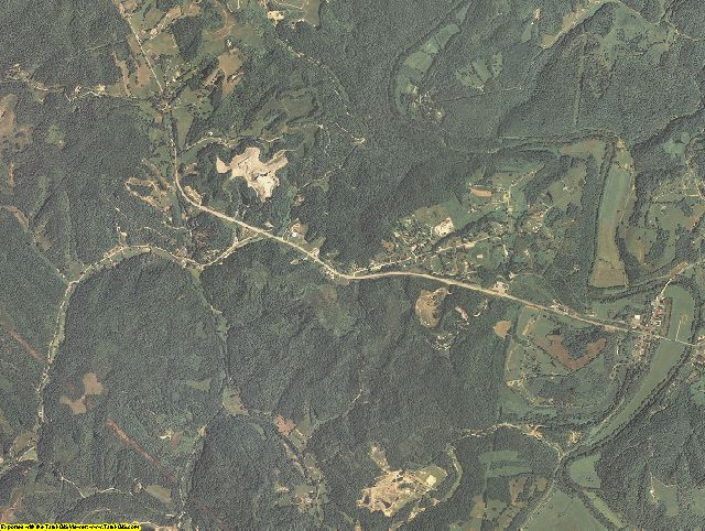 Owsley County, Kentucky aerial photography
